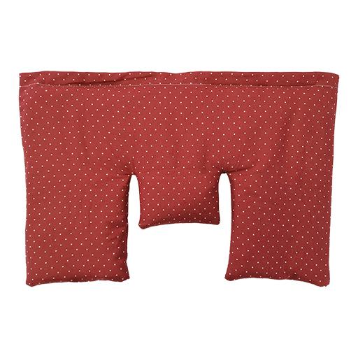 Krční polštářek z třešňových pecek, béžový s puntíky, 40 x 25 cm