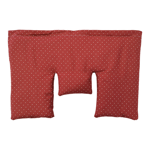 Krční polštářek plněný prosem, béžový s puntíky, 40 x 25 cm