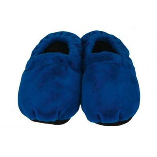 Hřejivé bačkory - modré L